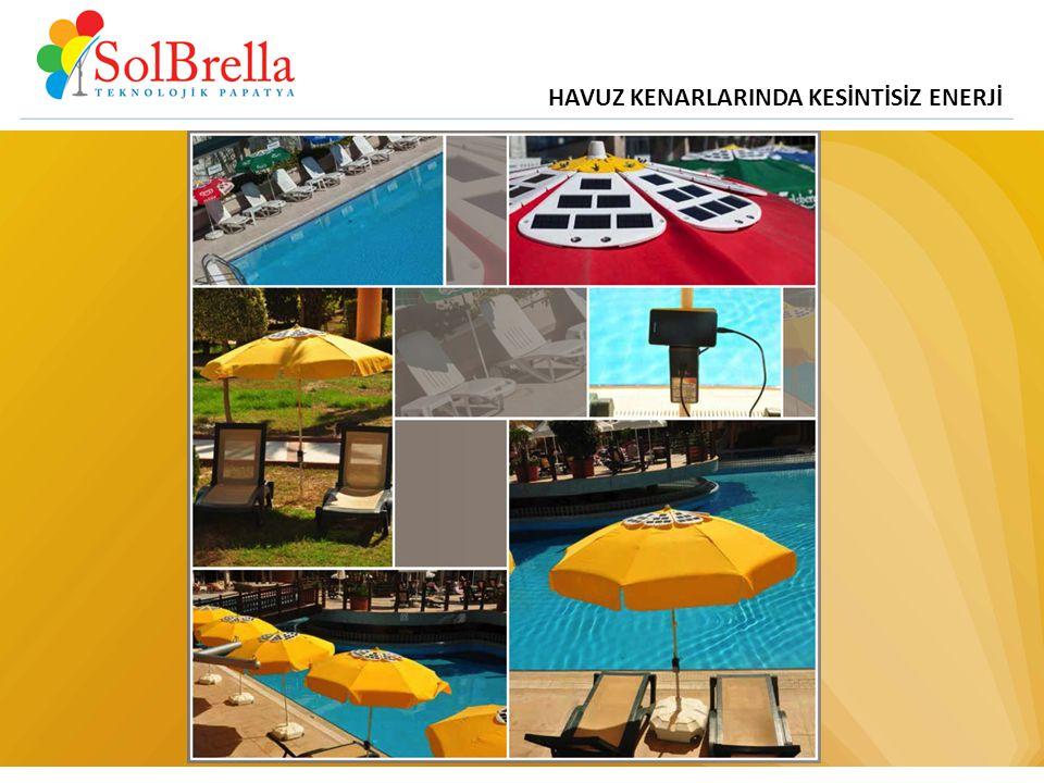 HAVUZ KENARLARINDA KESİNTİSİZ ENERJİ www.solbrella.com