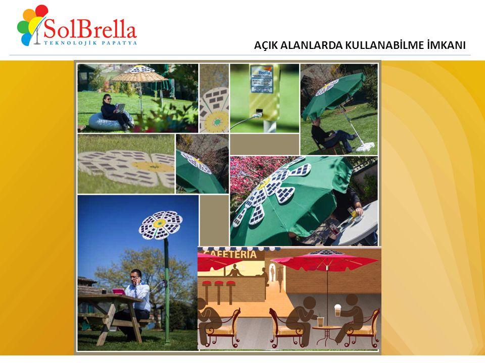 AÇIK ALANLARDA KULLANABİLME İMKANI www.solbrella.com