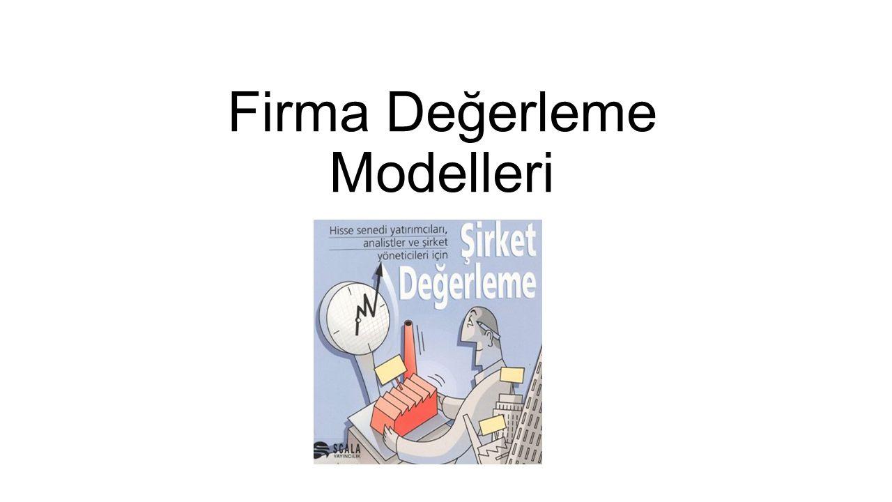 Firma Değerleme Modelleri