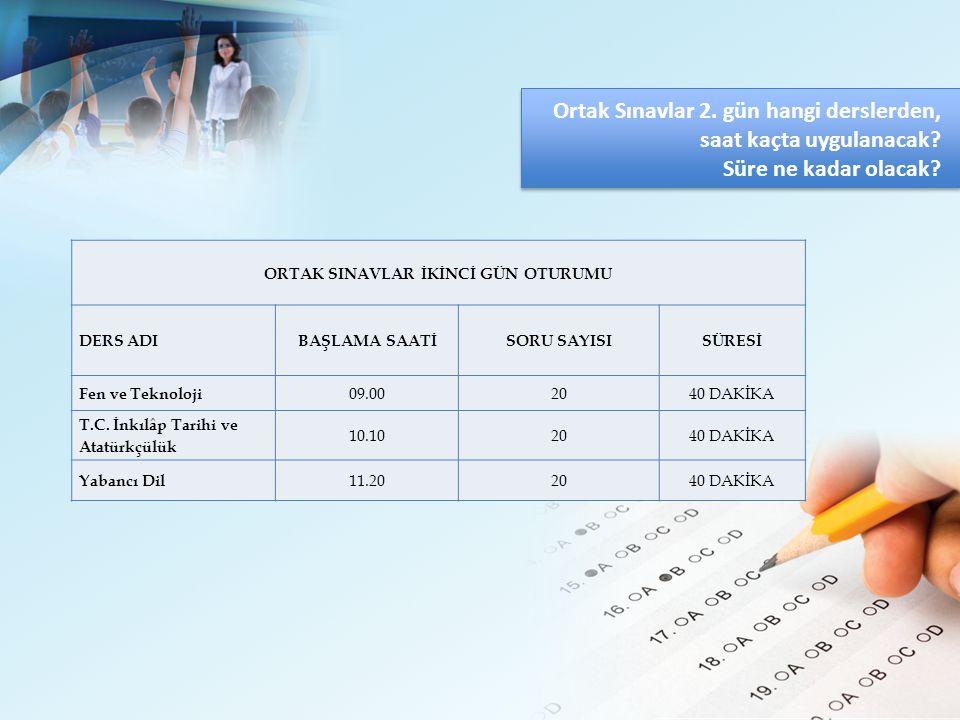 2014-2015 ÖĞRETİM YILI ORTAK SINAVLARININ PUAN DEĞERLERİ Ortak Sınavların Değerlendirmesinde Kullanılan Puanlamalar Ağırlıklandırılmış Ortak Sınav Puanı Ortak Sınavlar kapsamında, sınavı gerçekleştirilen derslerden alınan puanlar kendi ağırlık katsayıları ile çarpılacaktır.