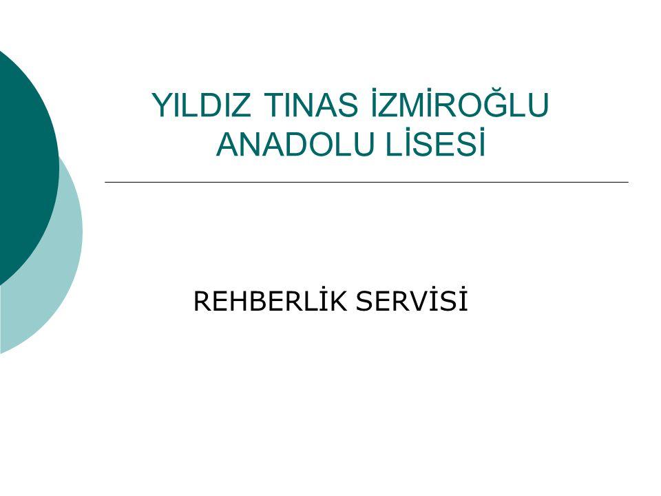 YILDIZ TINAS İZMİROĞLU ANADOLU LİSESİ REHBERLİK SERVİSİ