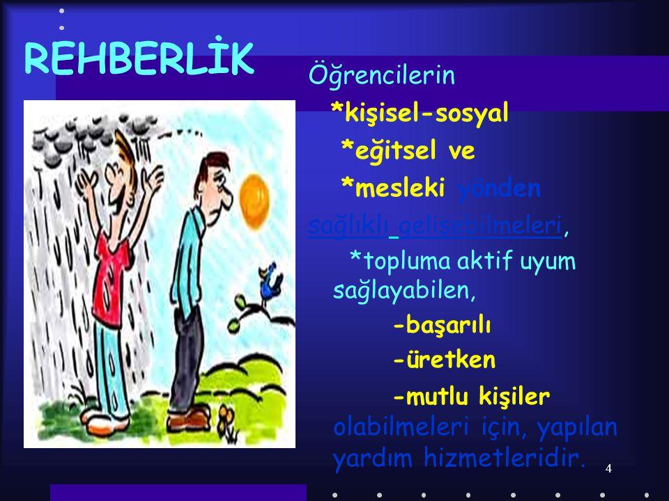3 REHBERLİĞİN TANIMI  Rehberlik Prof.Dr.