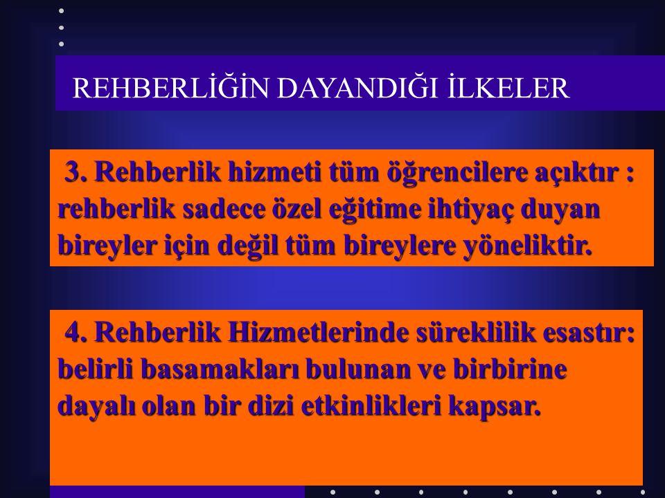 7 REHBERLİĞİN DAYANDIĞI İLKELER 1.