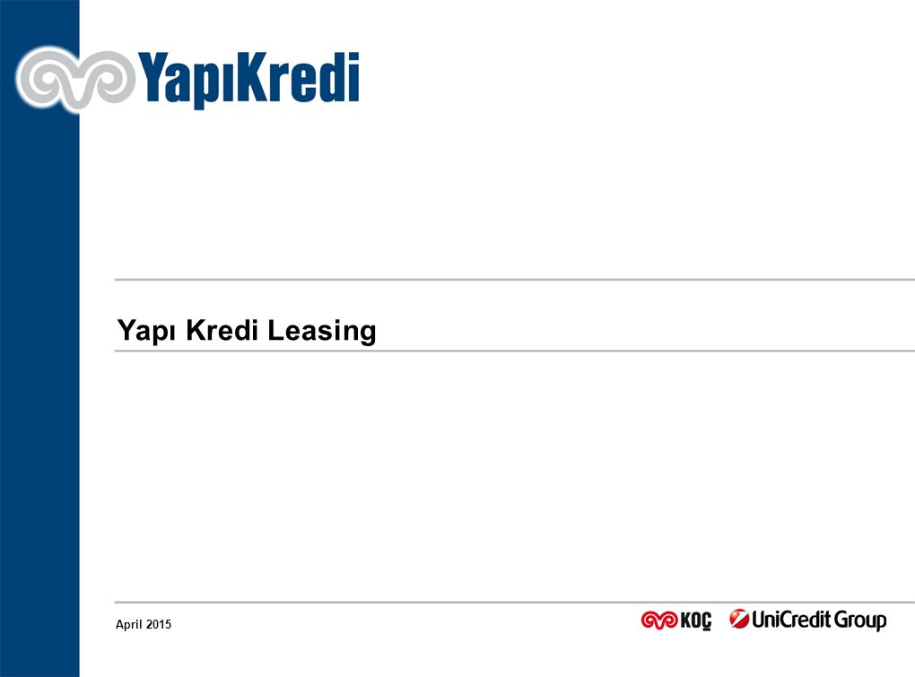 Yapı Kredi Leasing April 2015