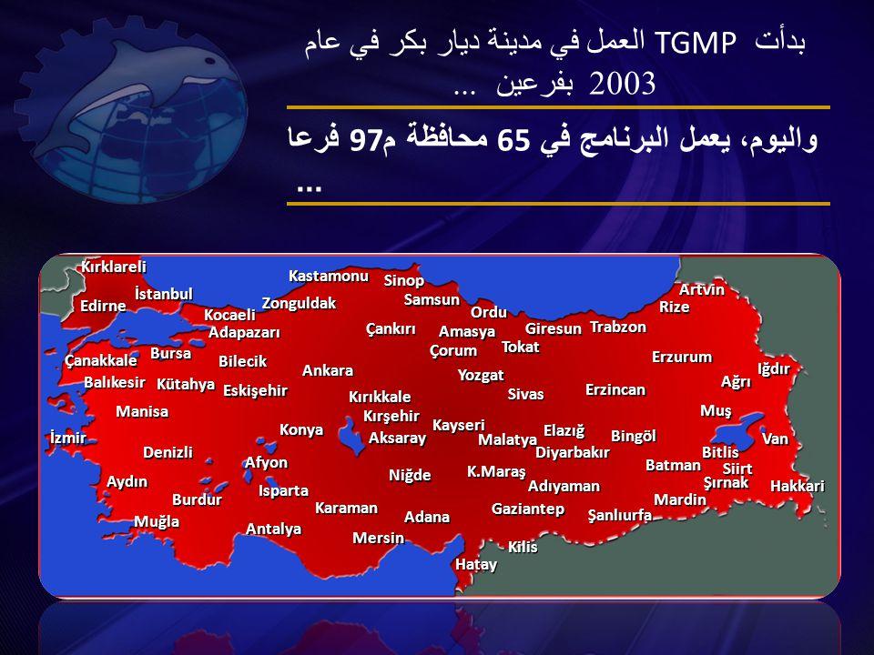بدأت TGMP العمل في مدينة ديار بكر في عام 2003 بفرعين...