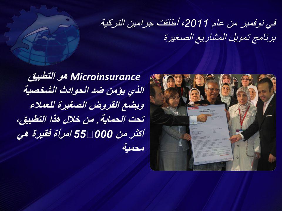 في نوفمبر من عام 2011 ، أطلقت جرامين التركية برنامج تمويل المشاريع الصغيرة Microinsurance هو التطبيق الذي يؤمن ضد الحوادث الشخصية ويضع القروض الصغيرة