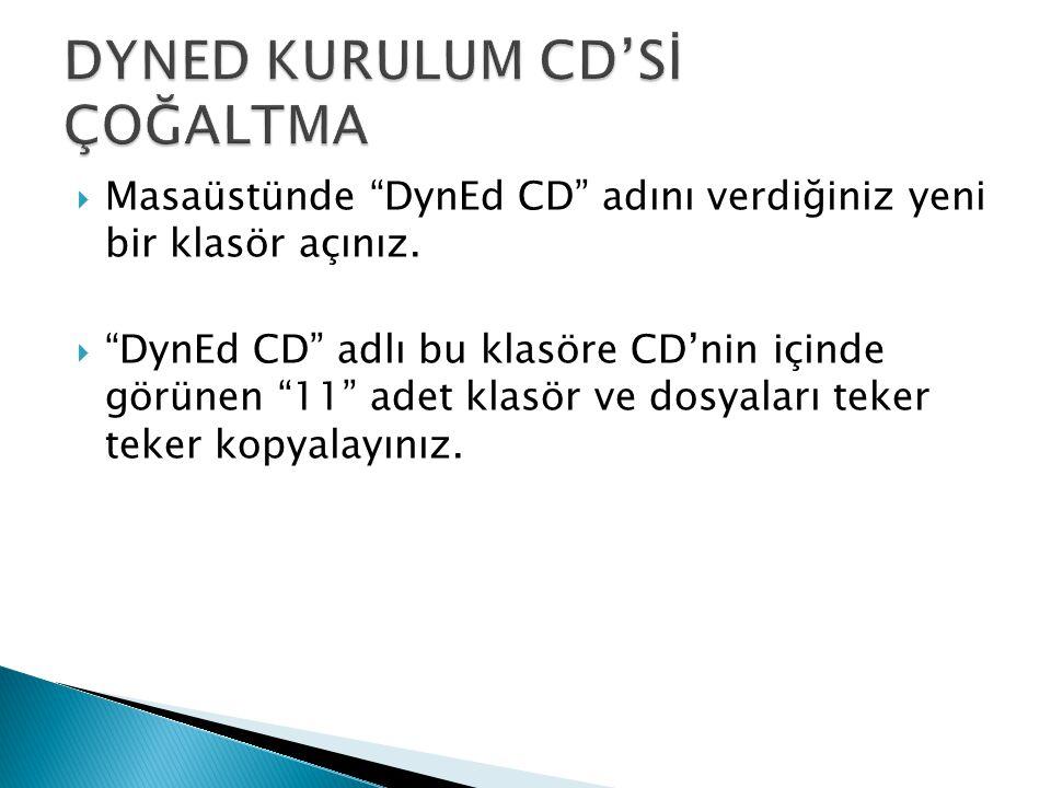  Bilgisayarınıza yazılabilir kullanılmamış yeni boş bir CD takınız.