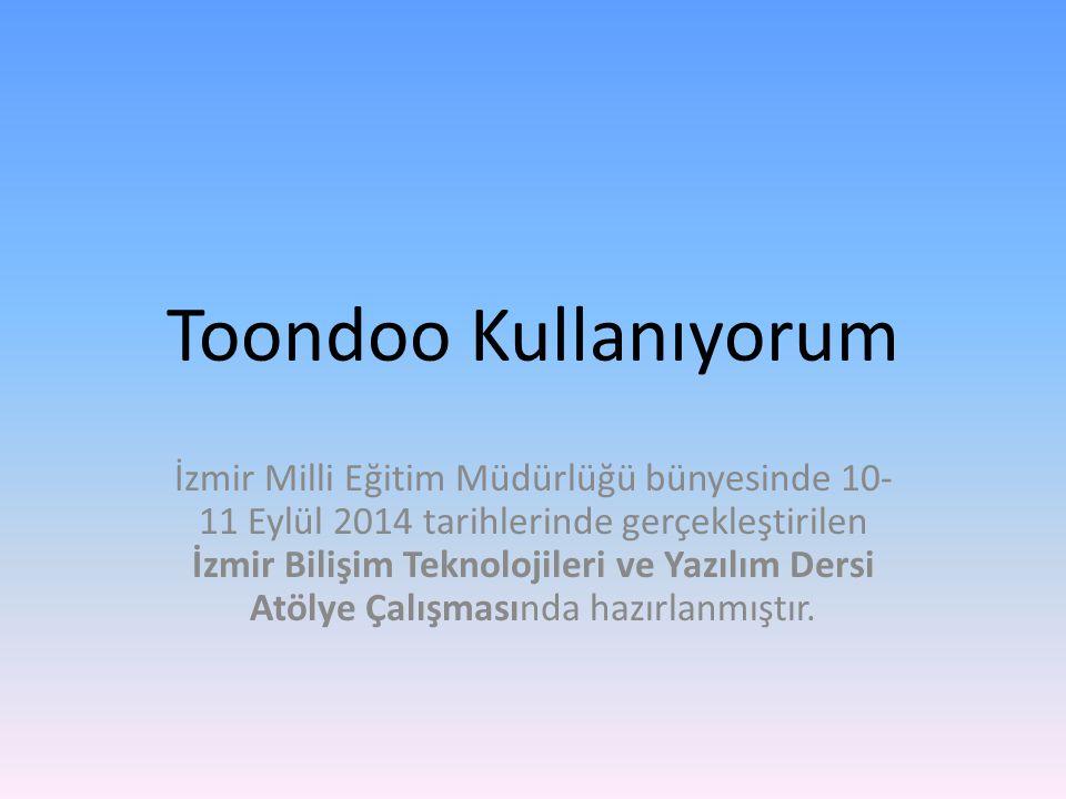 İzmir Milli Eğitim Müdürlüğü bünyesinde 10- 11 Eylül 2014 tarihlerinde gerçekleştirilen İzmir Bilişim Teknolojileri ve Yazılım Dersi Atölye Çalışmasında hazırlanmıştır.