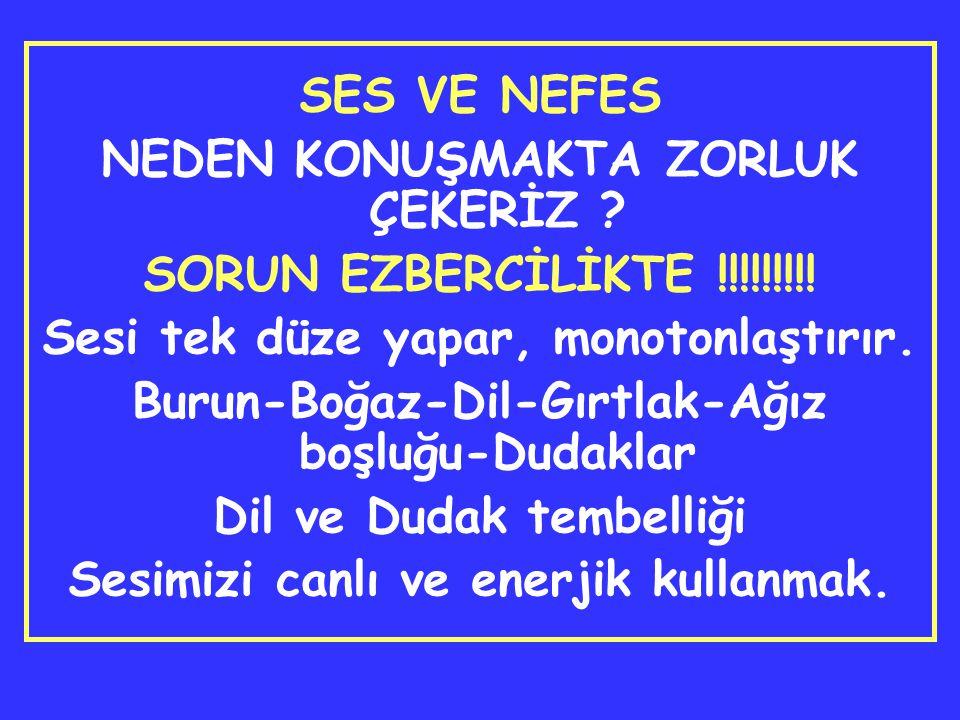 SES VE NEFES NEDEN KONUŞMAKTA ZORLUK ÇEKERİZ .SORUN EZBERCİLİKTE !!!!!!!!.