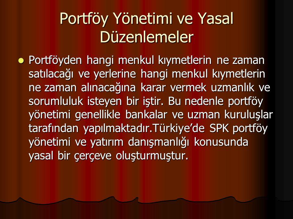 Portföy Yönetim Süreci Portföy Yönetimi Sistemi,dinamik bir sistem olup 5 aşamada oluşmaktadır.