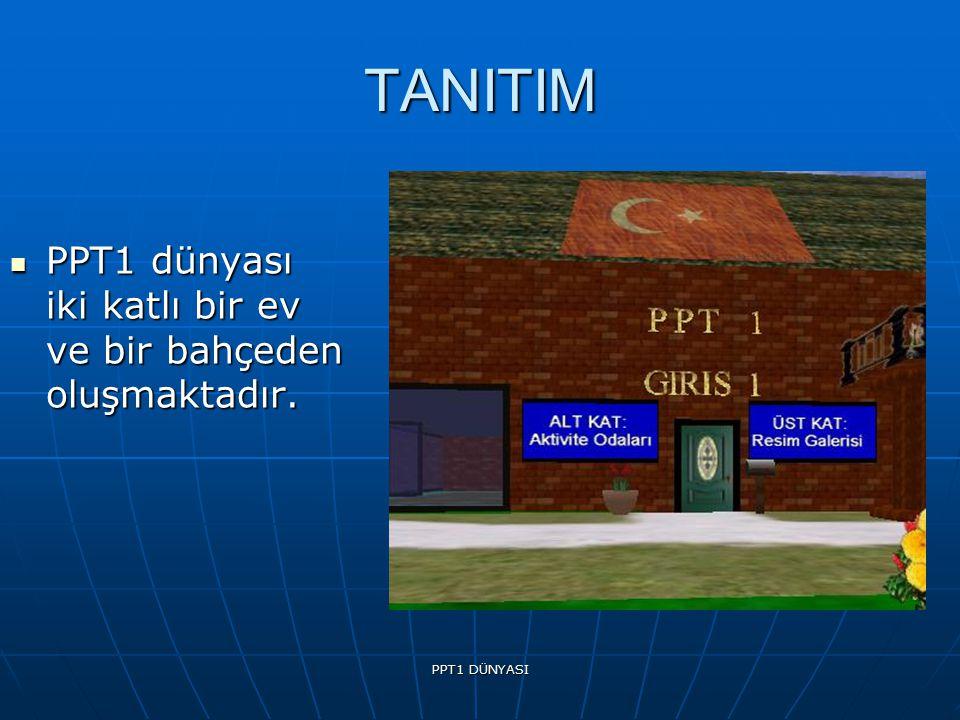 PPT1 DÜNYASI TANITIM PPT1 dünyası iki katlı bir ev ve bir bahçeden oluşmaktadır.