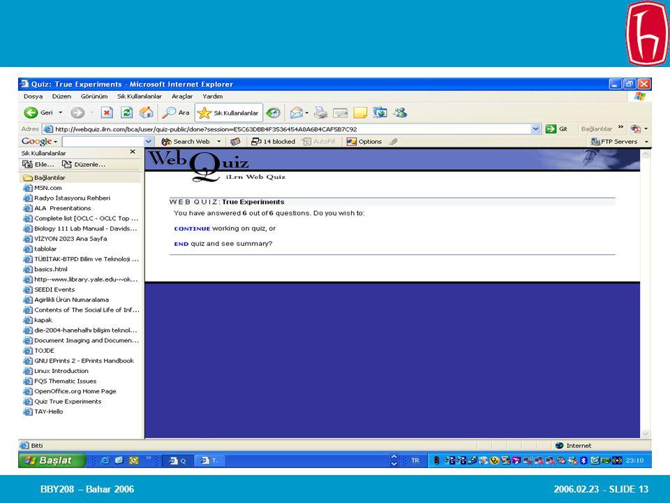 2006.02.23 - SLIDE 13BBY208 – Bahar 2006