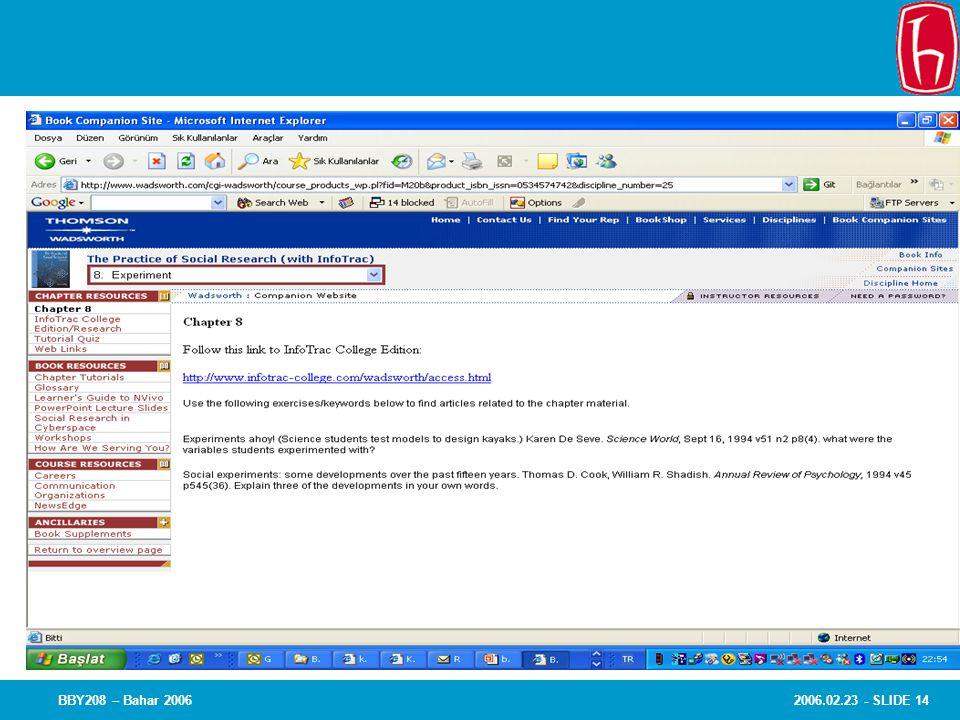 2006.02.23 - SLIDE 14BBY208 – Bahar 2006