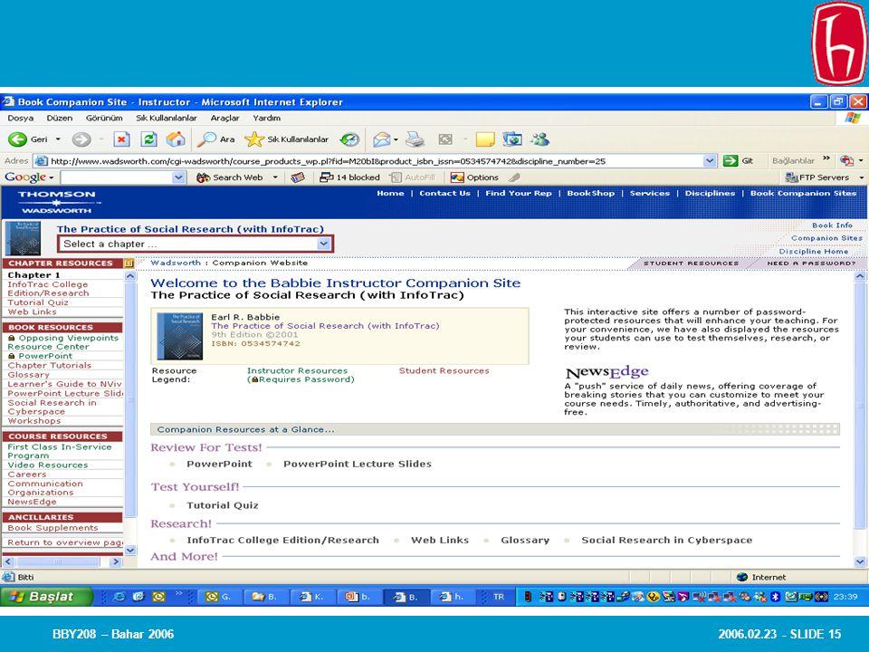 2006.02.23 - SLIDE 15BBY208 – Bahar 2006