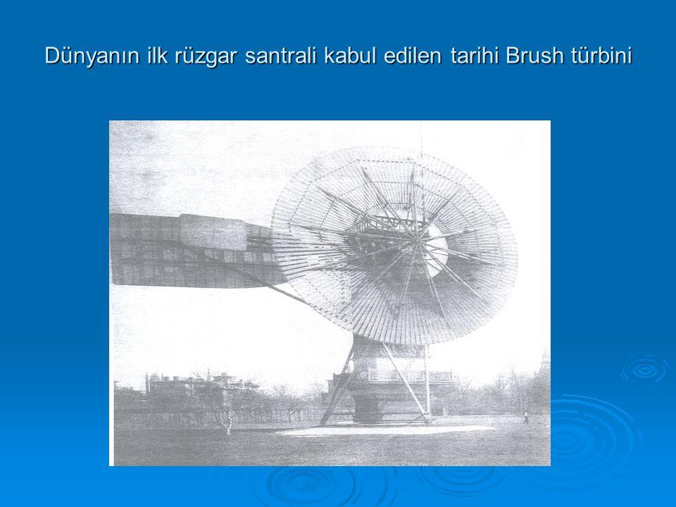 Dünyanın ilk rüzgar santrali kabul edilen tarihi Brush türbini