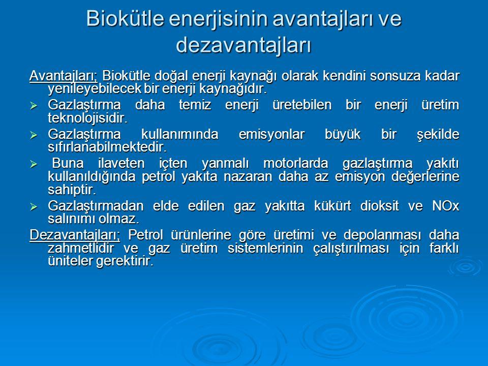 Biokütle enerjisinin avantajları ve dezavantajları Avantajları; Biokütle doğal enerji kaynağı olarak kendini sonsuza kadar yenileyebilecek bir enerji kaynağıdır.
