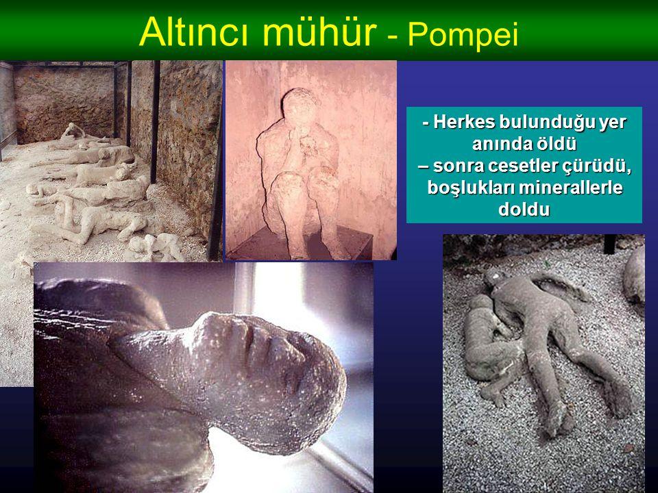 Altıncı mühür - Pompei - bir anda o kadar güzel kasabalar yok oldu – hayat sanki bir sekundada donduruldu