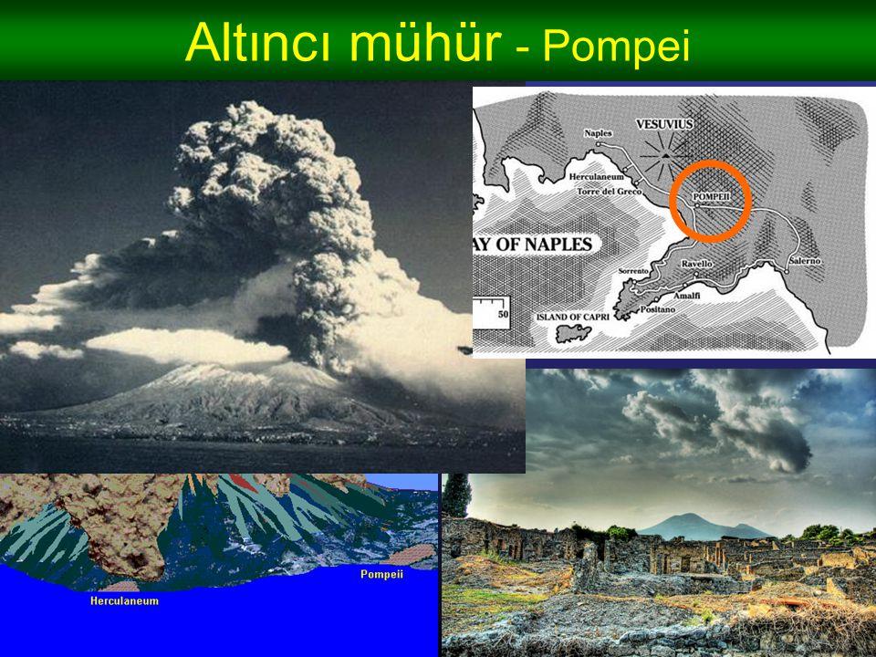 Altıncı mühür - Pompei - Herkes bulunduğu yer anında öldü – sonra cesetler çürüdü, boşlukları minerallerle doldu