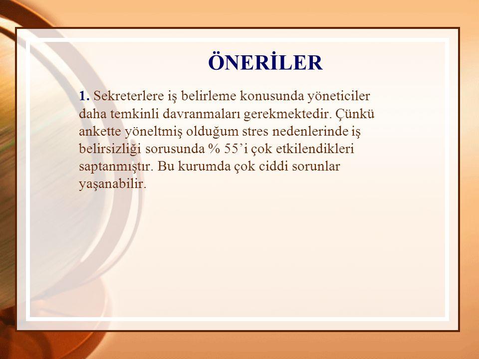 ÖNERİLER 1.
