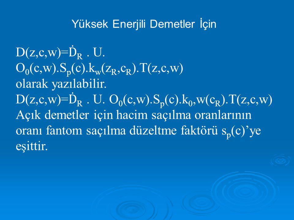 D(z,c,w)= Ḋ R.U. O 0 (c,w).S p (c).k w (z R,c R ).T(z,c,w) olarak yazılabilir.