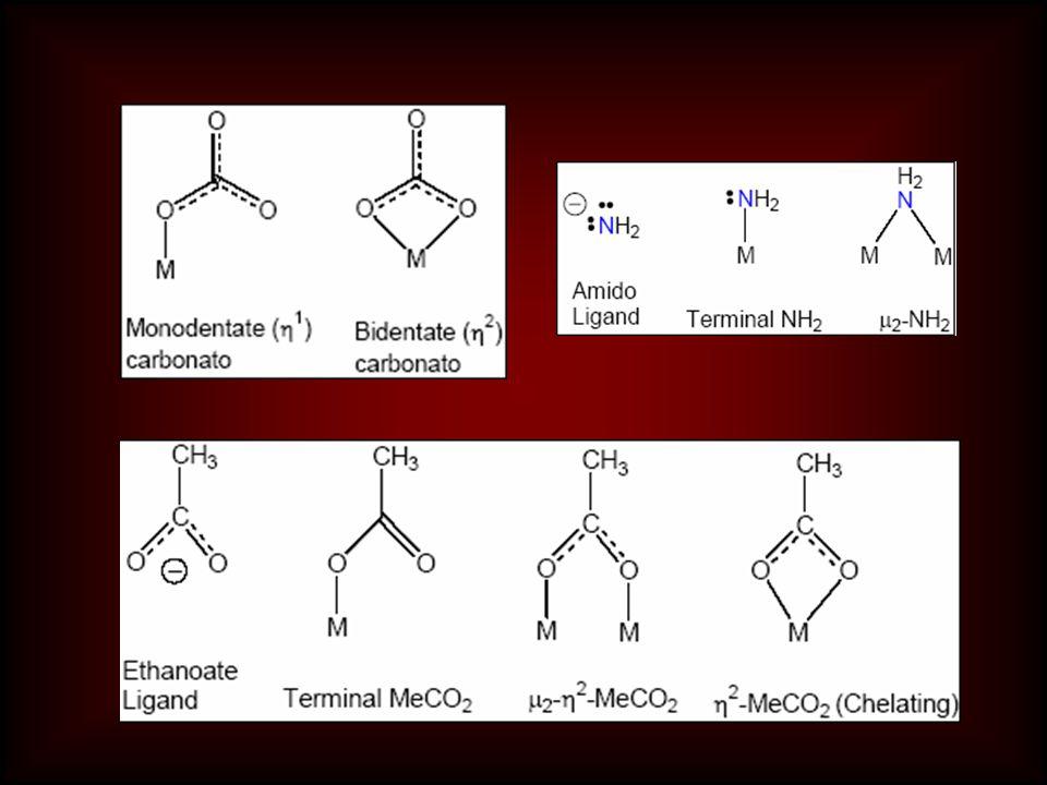 Ligant sayısını veren önekler 2dibis 3tritris 4tetratetrakis 5pentapentakis 6heksaheksakis 7heptaheptakis 8oktaoktakis ikinci grup öneklerin kullanıldığı yerler  Büyük ve karmaşık ligantlarda  Önek içeren ligantlarda