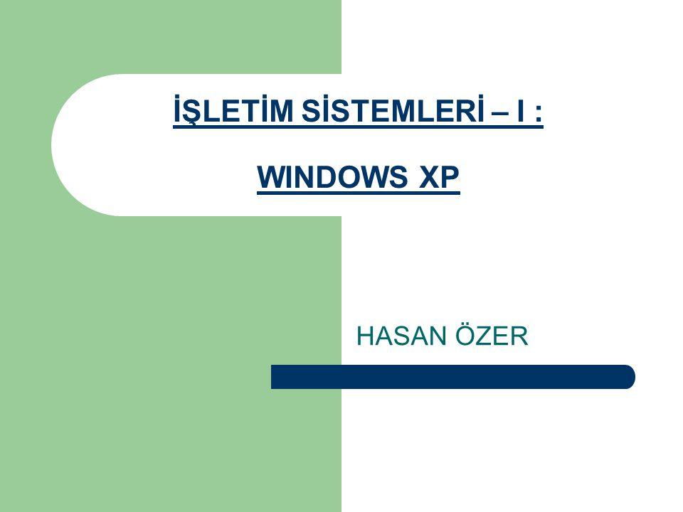 Masaüstü simgeleri Bilgisayarım Bilgisayarım seçeneği kullanılarak sabit disk, disket ya da CD içinde bulunan dosya ve dizinlere ulaşılır.