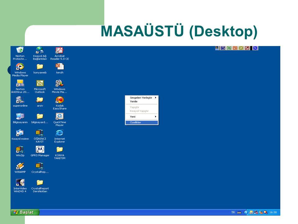 MASAÜSTÜ (Desktop)