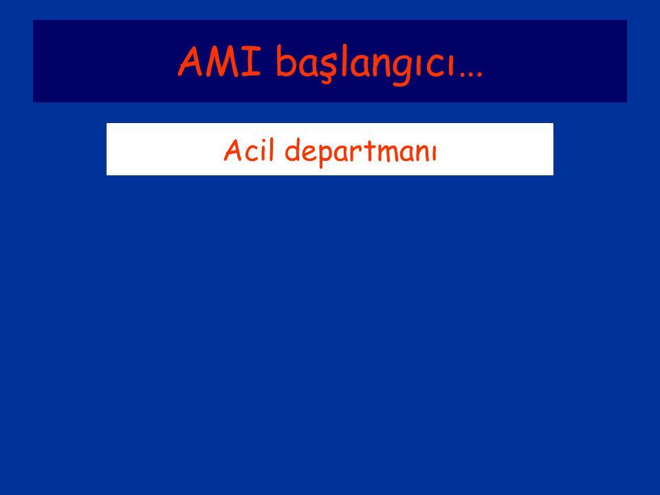 AMI başlangıcı… Acil departmanı