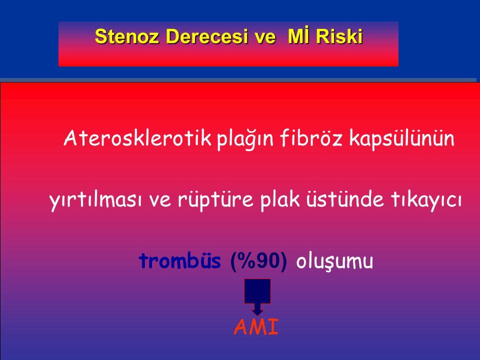 Trombosit adezyonu/aktivasyonu Fuster V et al N Engl J Med 1992;326(4):242-250 Lefkovits J et al N Engl J Med 1995;332(23):1553-1559 Coller BS et al Thromb Haemost 1995;74(1):302-308.