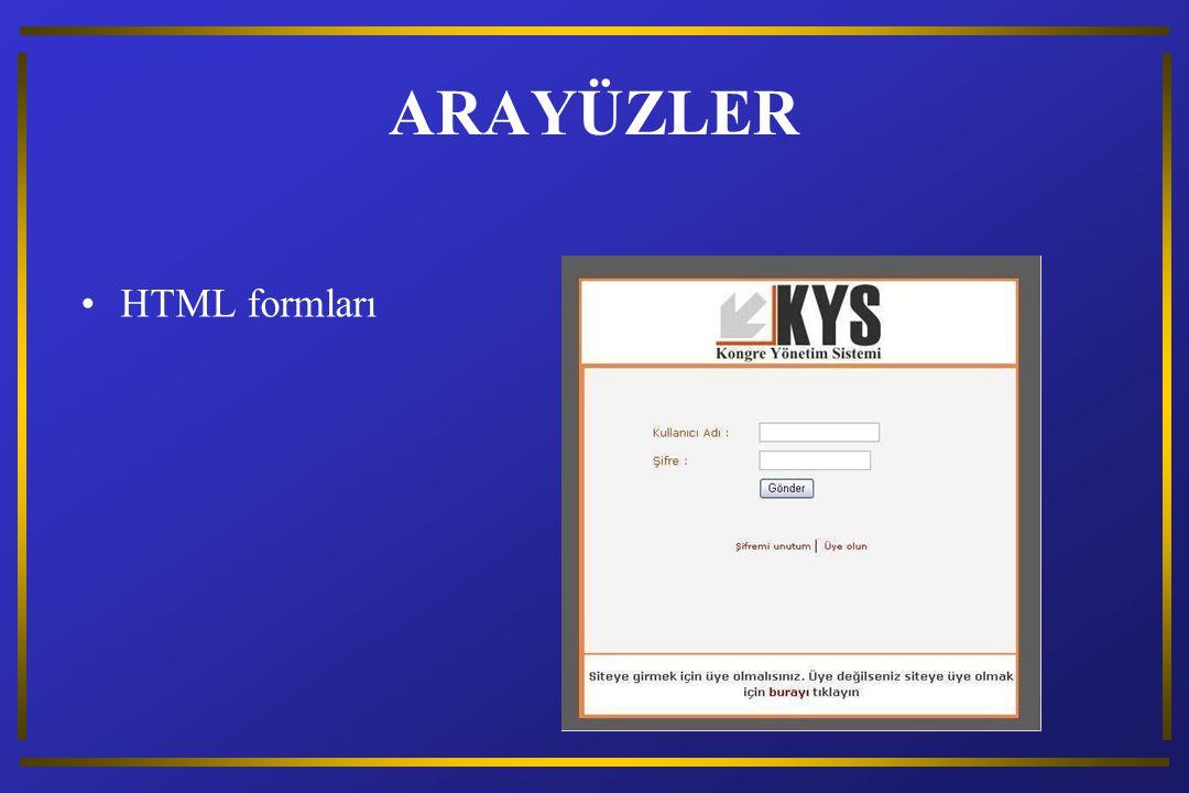 ARAYÜZLER HTML formları