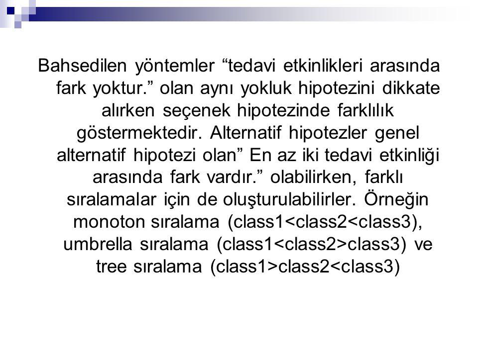 2) Umbrella Volume : Umbrella sıralama söz konusu olduğunda kullanılan,parametrik olmayan bir yaklaşımdır.