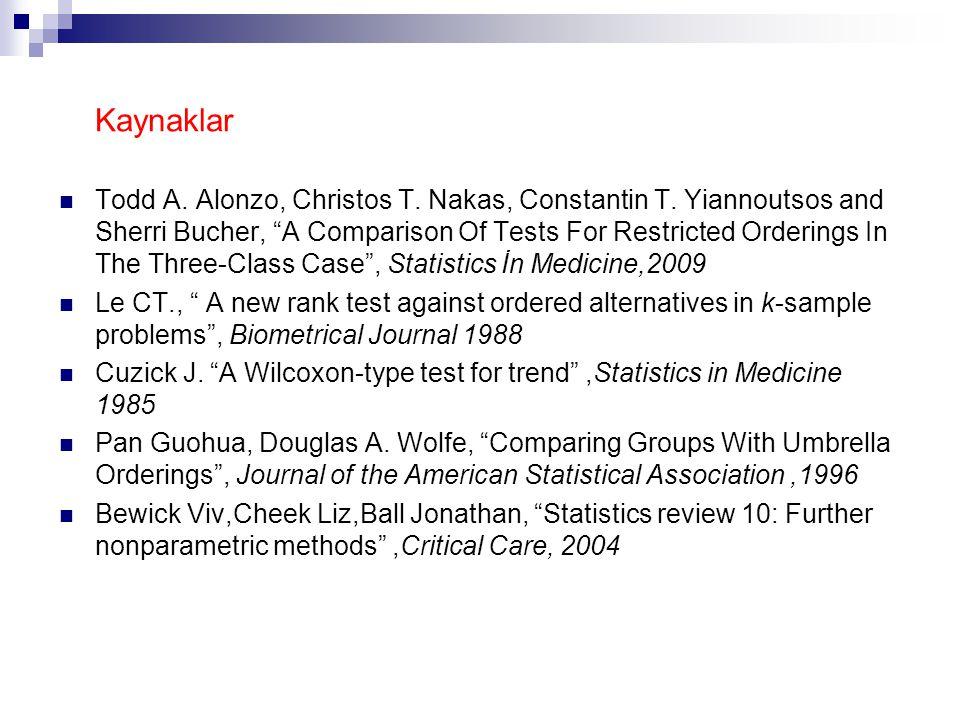 Kaynaklar Todd A. Alonzo, Christos T. Nakas, Constantin T.
