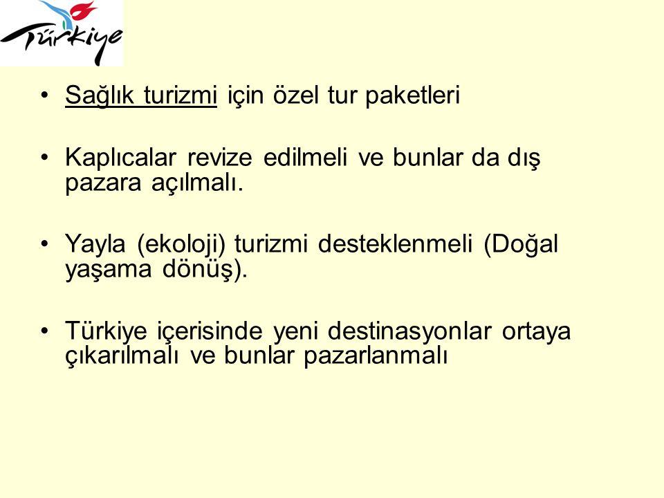 Türk Mutfağı Gelen turistlerin Türk Mutfağı'nı doğru bir şekilde tanıması amaçlanmalıdır.