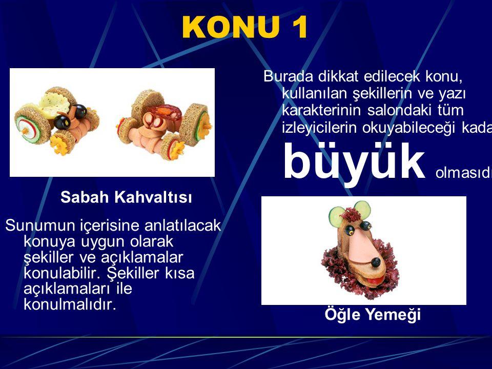 KONU 2 Anlatılacak konular belirli bir akış düzeni içerisinde sıra ile yerleştirilmelidir.