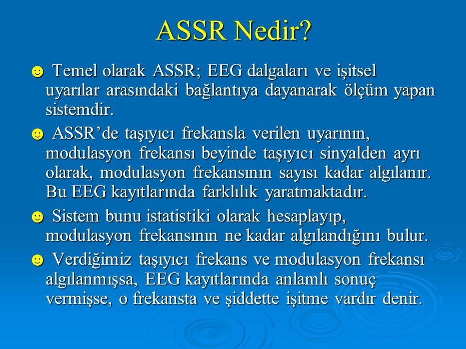 ABR'nin Sınırları ☻ ABR'nin test sonuçları için görsel ve subjektif yorumlar gerekmektedir.