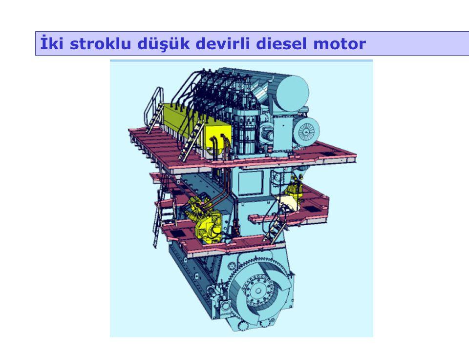 İki stroklu düşük devirli diesel motor