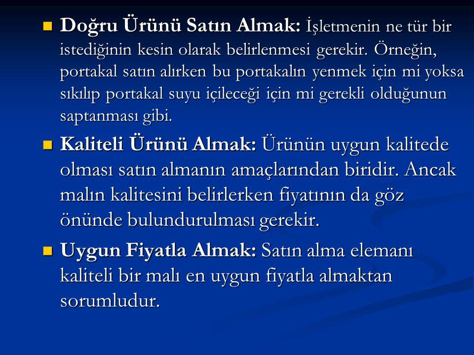 2)Teslim Alma: Teslim alma sırasında yapılması gereken işlemler aşağıda belirtildiği gibidir.