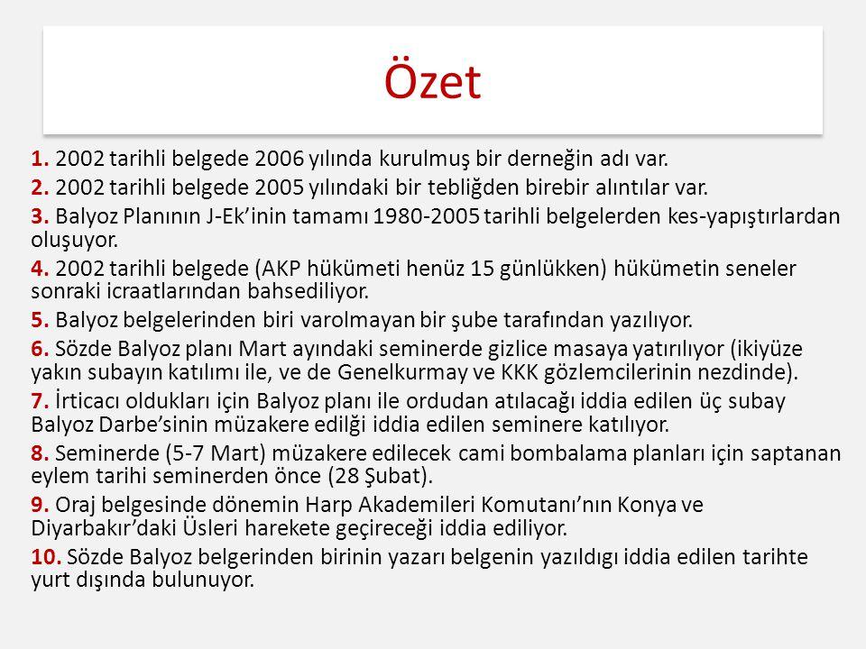 Özet 1. 2002 tarihli belgede 2006 yılında kurulmuş bir derneğin adı var.