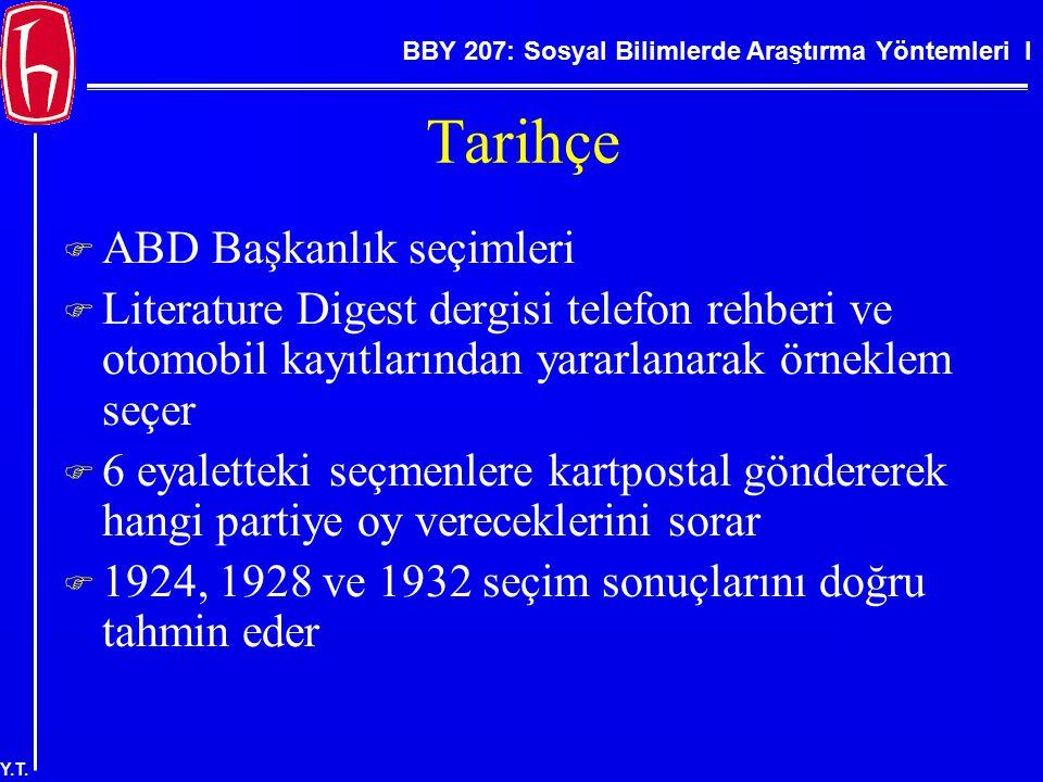 BBY 207: Sosyal Bilimlerde Araştırma Yöntemleri I Y.T. Normal Dağılım