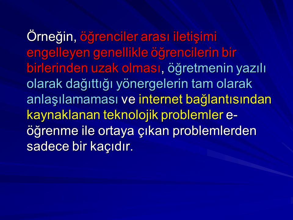 Bu ve buna benzer problemleri azaltmaya yardımcı olabilecek İnternet-Tabanlı Ders Yönetim Sistemleri geliştirilmiştir.