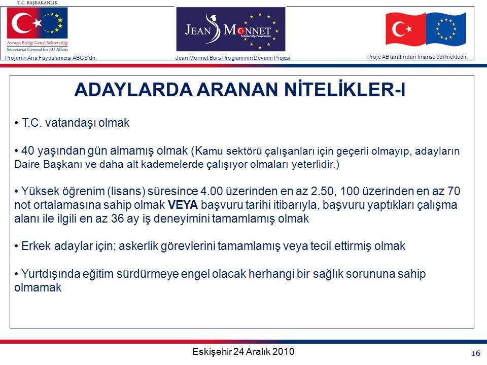 16 ADAYLARDA ARANAN NİTELİKLER-I T.C.