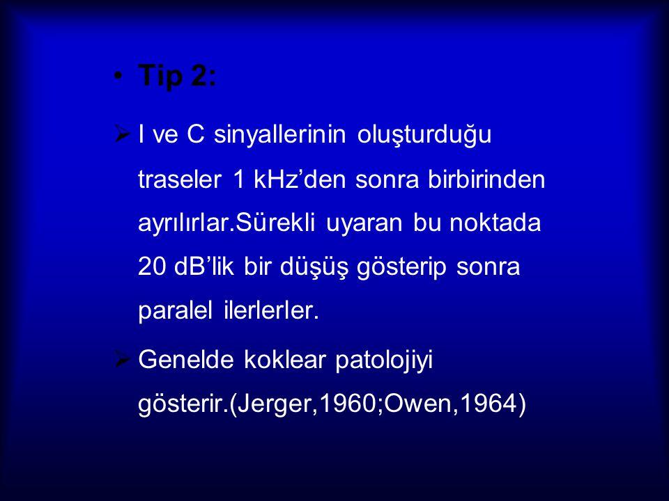 Tip 3:  C sinyallerinin hızlı,anormal ve keskin adaptasyonu ile karakterizedir.