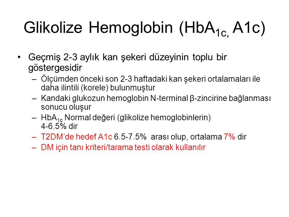 SORU Hemoglobin A 1c nedir? –Tanı kriteri/tarama testi olarak kullanabilirmiyiz?.....