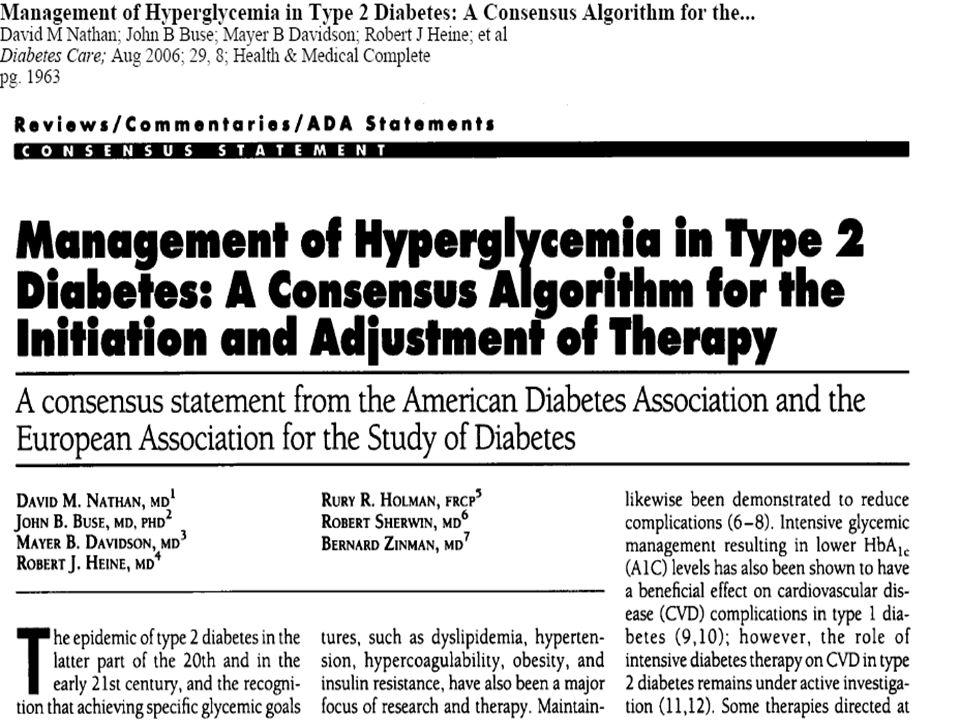 T2DM Tedavi Algoritması (ADA-EASD Konsensus)
