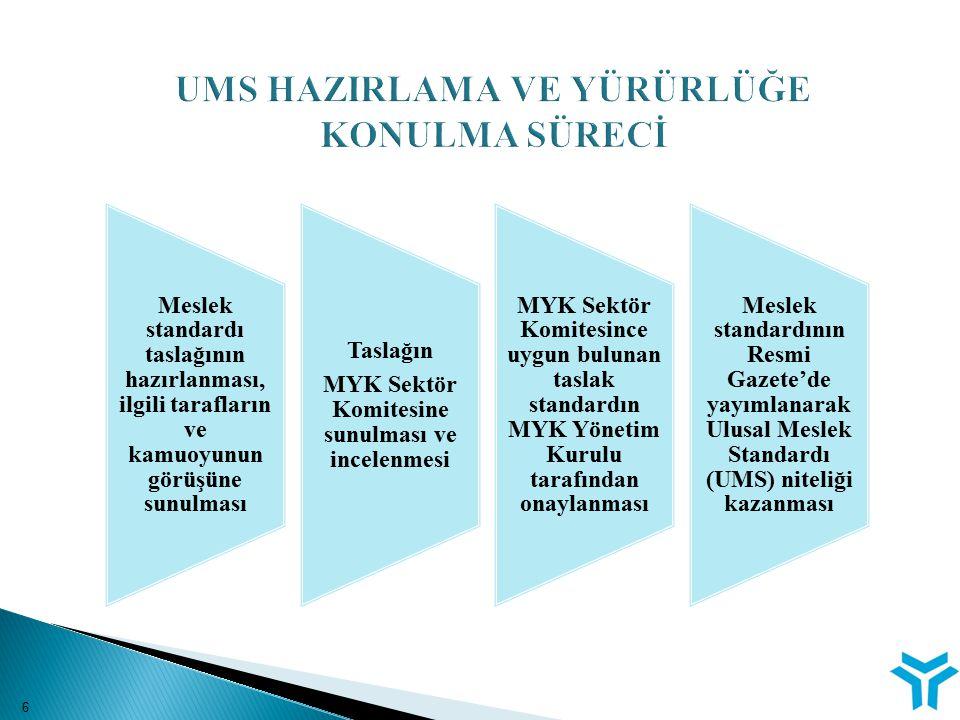İstihdam Ve Mesleki Eğitim İlişkisinin Güçlendirilmesi Eylem Planı (İMEİGEP) İlk ulusal meslek standardının yayımlanmasını takiben; Çalışma ve Sosyal Güvenlik Bakanı Sayın Ömer DİNÇER'in özel ilgisi ve talimatlarıyla MYK'nın sekretaryasında, MEB ve YÖK başta olmak üzere, San.ve Tic.