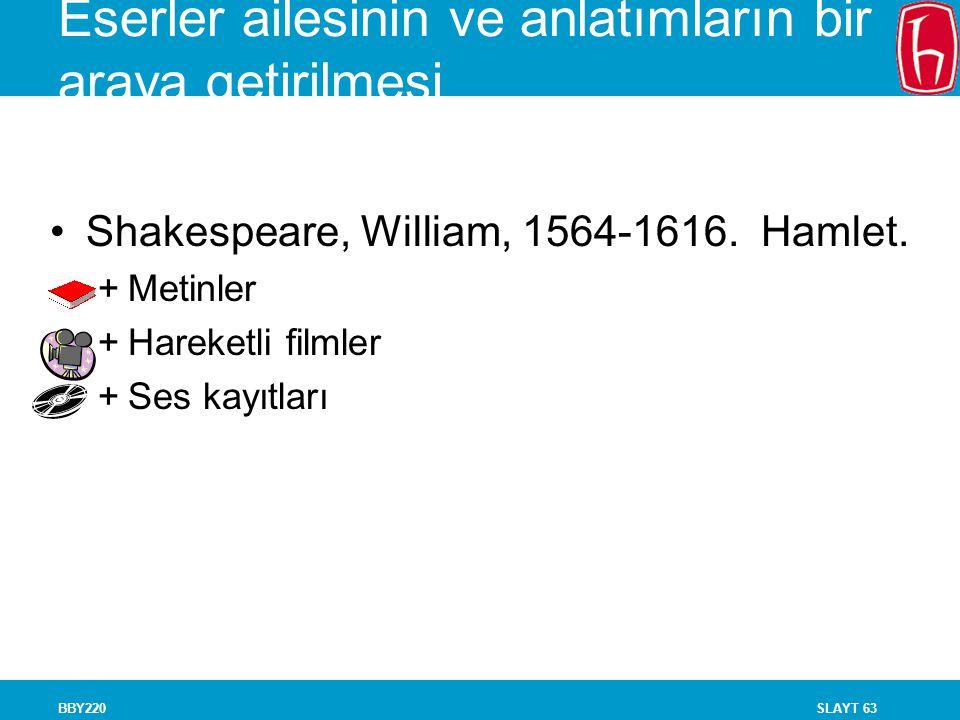 SLAYT 63BBY220 Eserler ailesinin ve anlatımların bir araya getirilmesi Shakespeare, William, 1564-1616. Hamlet. +Metinler +Hareketli filmler +Ses kayı
