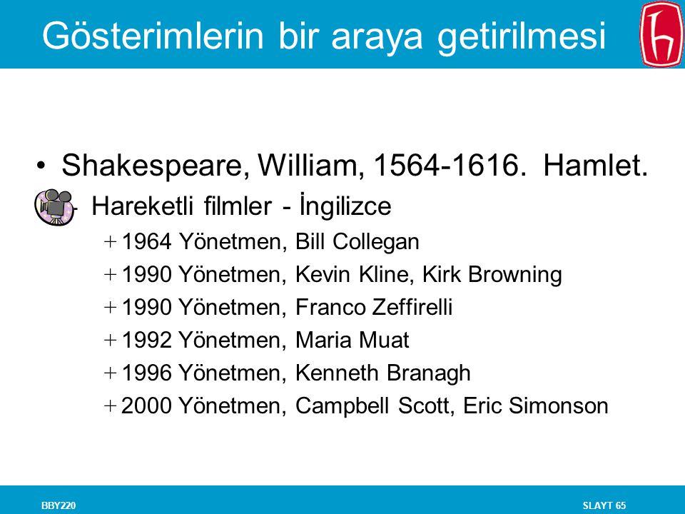 SLAYT 65BBY220 Gösterimlerin bir araya getirilmesi Shakespeare, William, 1564-1616. Hamlet. - Hareketli filmler - İngilizce + 1964 Yönetmen, Bill Coll