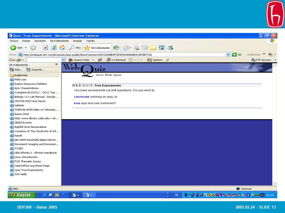 2005.02.24 - SLIDE 13BBY208 – Bahar 2005