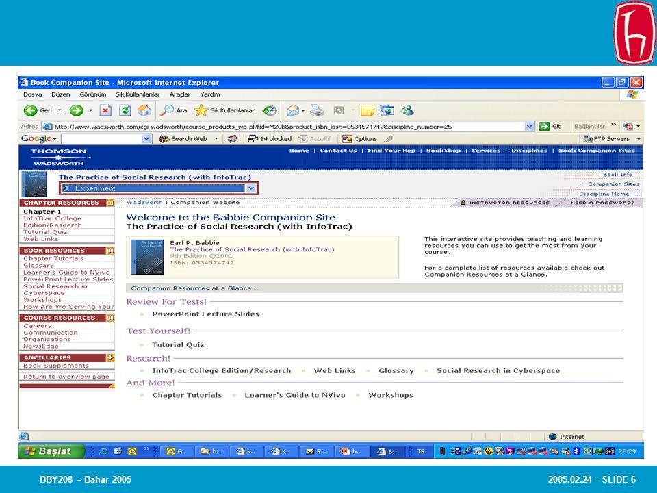 2005.02.24 - SLIDE 7BBY208 – Bahar 2005