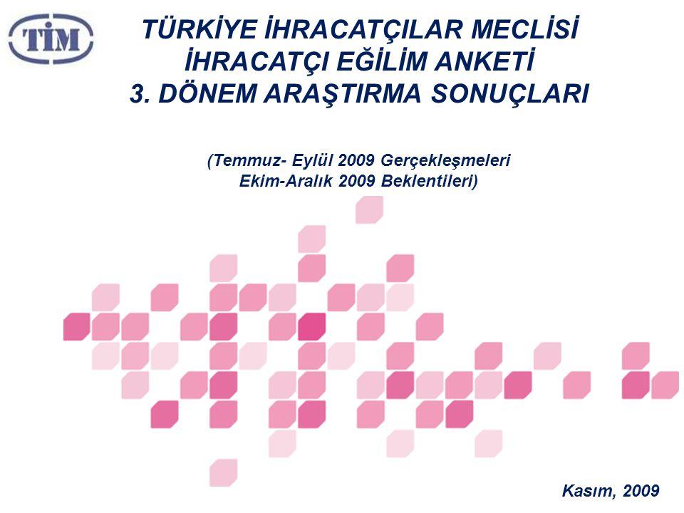TÜRKİYE İHRACATÇILAR MECLİSİ İHRACATÇI EĞİLİM ANKETİ 3.